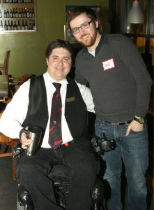 Calgary-Buffalo MLA Kent Hehr and Dave Cournoyer daveberta