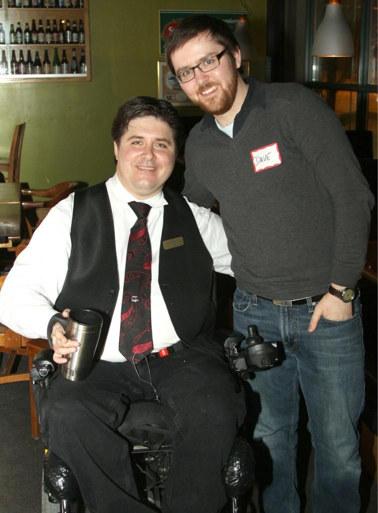 Calgary-Buffalo MLA Kent Hehr and Dave Cournoyer daveberta