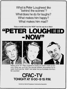 "Alberta Progressive Conservatives 1971 Election Ad ""Peter Lougheed - Now"""