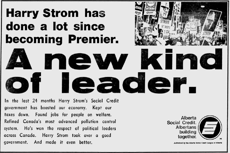 "Alberta Social Credit 1971 Election Campaign Ad ""A New Kind of Leader"""