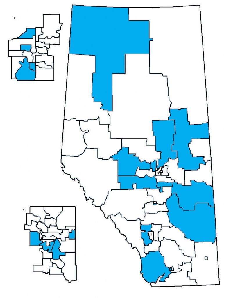 New Alberta Cabinet Map