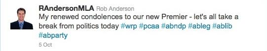 Rob Anderson Twitter MLA Wildrose