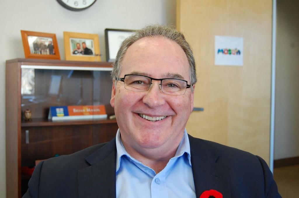 NDP leader Brian Mason sans mustache