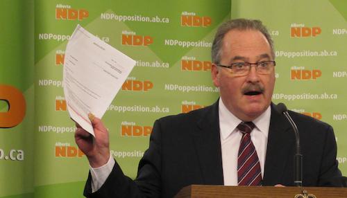 Alberta NDP Leader Brian Mason