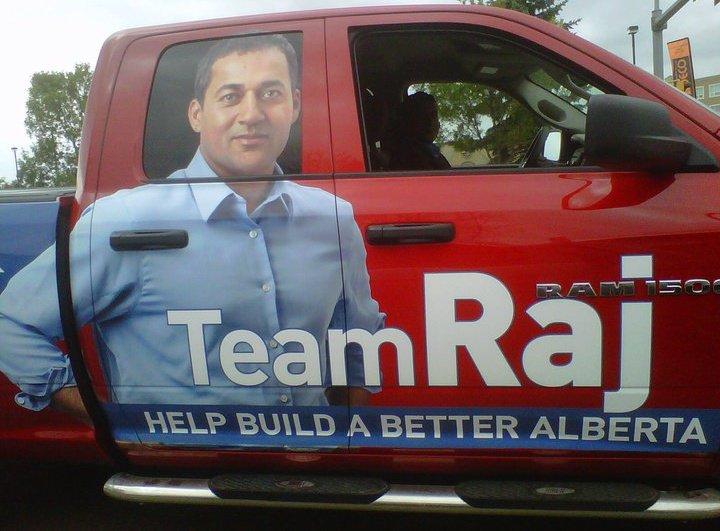 Alberta Liberal Raj Sherman campaign election truck