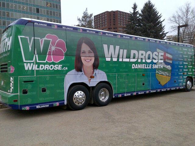 Wildrose Danielle Smith Campaign Election Bus