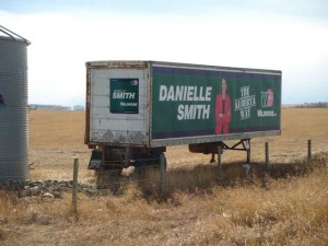 Danielle Smith Trailer Alberta Highwood Wildrose Election 2012