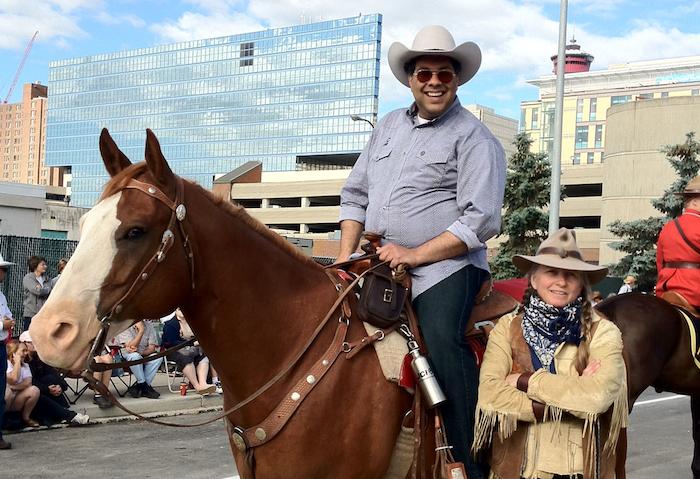 Naheed Nenshi Horse Calgary Stampede