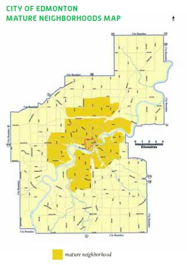 City of Edmonton Mature Neighbourhood Map