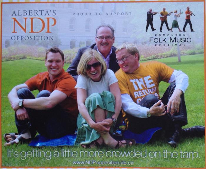 NDP Edmonton Folk Fest Ad