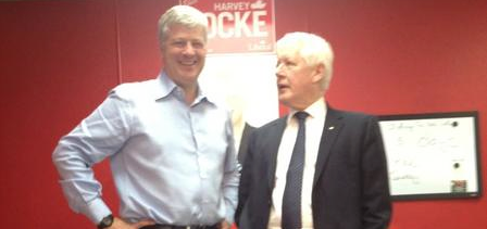 Harvey Locke Bob Rae Liberal Calgary-Centre (photo from Mr. Locke's Facebook Page)