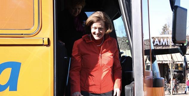 Alison Redford Campaign Bus