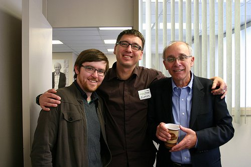 Yours truly, community organizer Michael Walters and Mayor Stephen Mandel at the Mayor's campaign headquarters during the 2010 election.