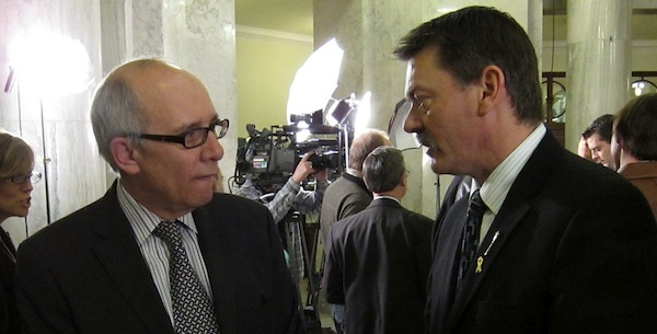 Edmonton Mayor Stephen Mandel and Finance Minister Doug Horner