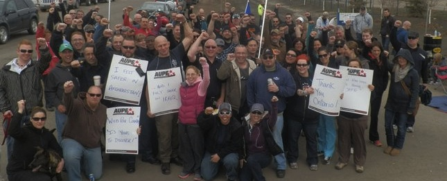 Corrections Officers on strike last weekend.