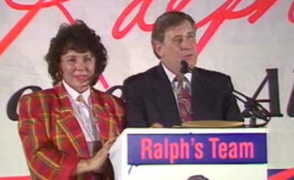 Colleen and Ralph Klein (screenshot from CBC news archive)