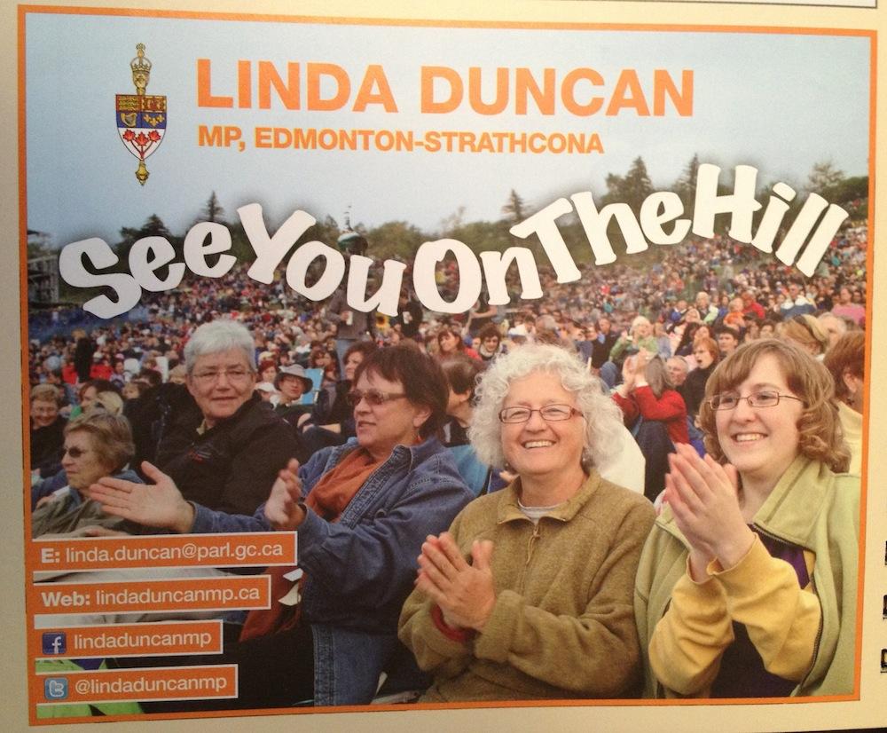 Linda Duncan Edmonton Folk Fest Ad