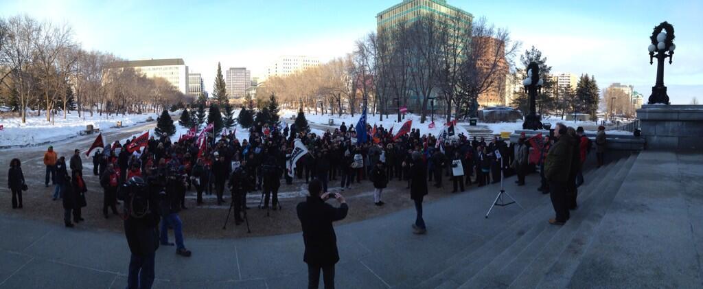 Alberta Legislature Protest #BuildingAlberta