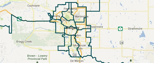 Calgary's 2015 electoral districts as recommended by the Electoral Boundary Commission Final Report.