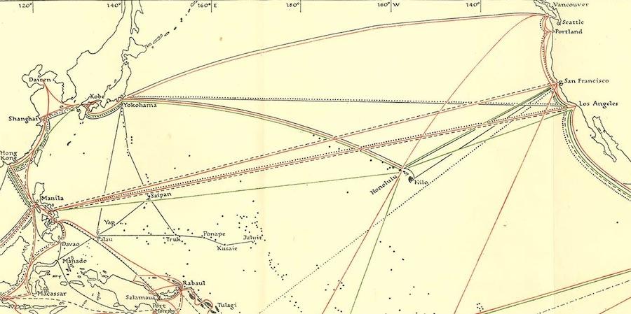Pacific Shipping Lanes Alberta to China