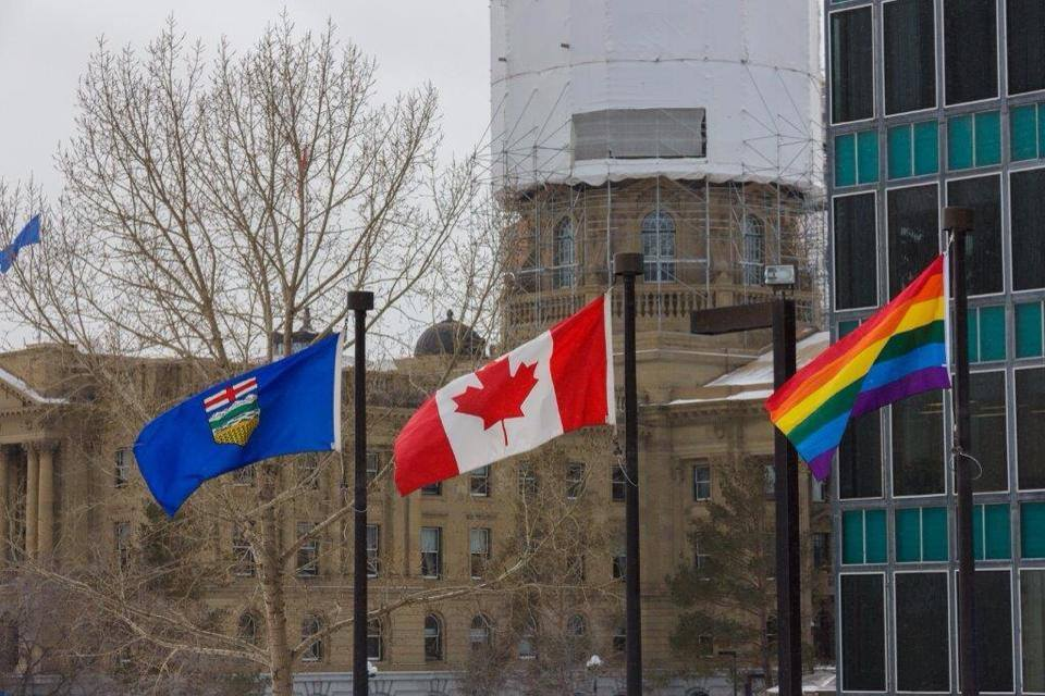 Pride Flag Alberta Legislature Sochi Olympics