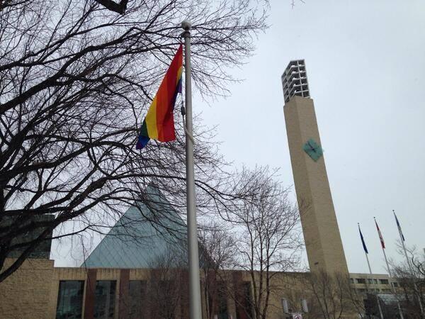 Pride Flag Edmonton Sochi Olympics