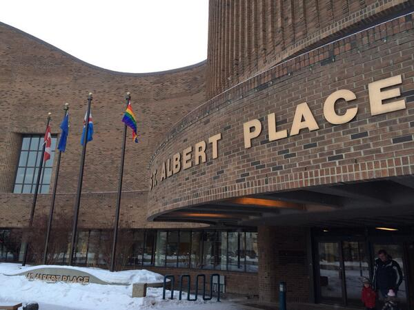 Pride Flag St. Albert City Hall Sochi