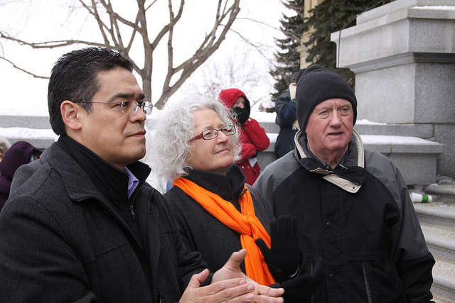 In 2011, Edmonton NDP candidates Lewis Cardinal, Linda Duncan and Ray Martin.