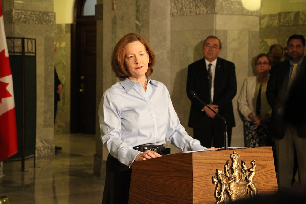 Alison Redford Premier of Alberta resigns 1