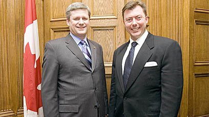 Prime Minister Stephen Harper and MP Rob Anders.