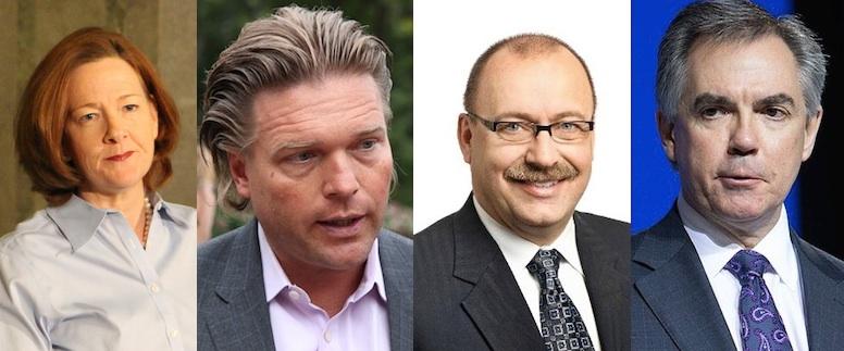 Alison Redford Jim Prentice Thomas Lukaszuk Ric McIver Alberta Premier PC Leadership Race