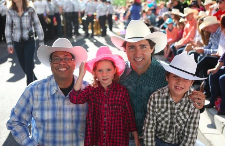 Justin Trudeau Naheed Nenshi Calgary Stampede