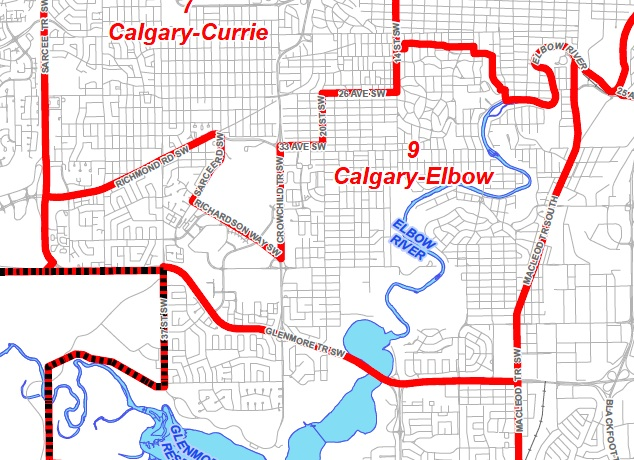 Calgary Elbow Map By-Election