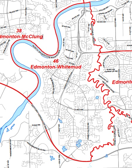 Edmonton Whitemud Map By-Election