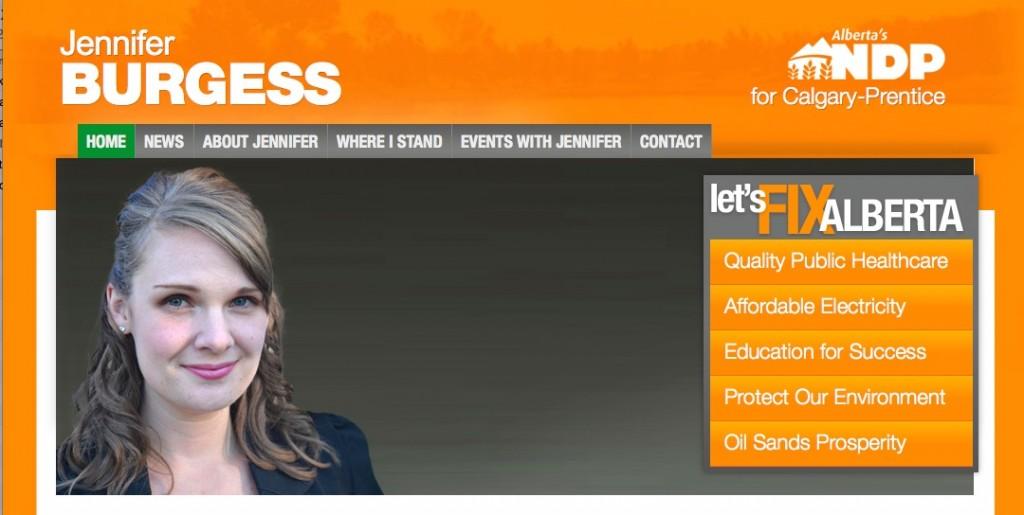 Jennifer Burgess Calgary-Prentice NDP by-election
