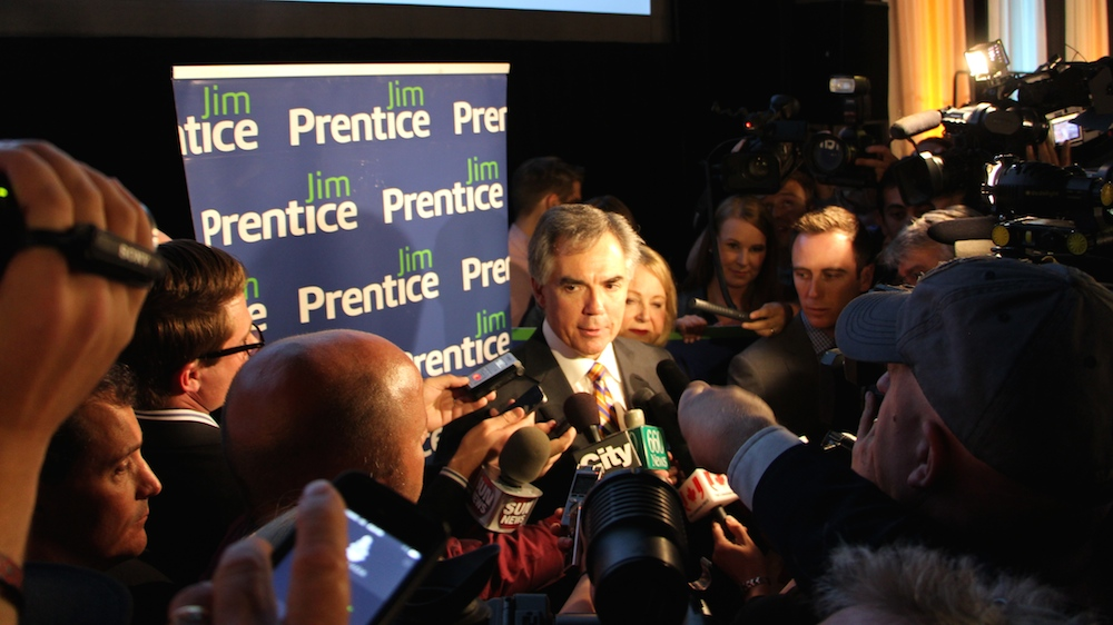 Premier Jim Prentice Alberta Leadership Race Vote