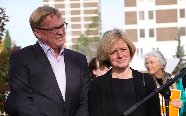 Rachel Notley David Eggen Alberta NDP Leadership Race 2014