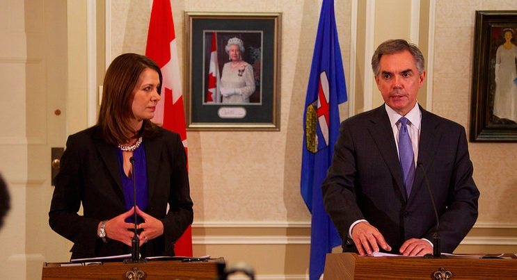 Jim Prentice Danielle Smith Alberta Wildrose Merger PC
