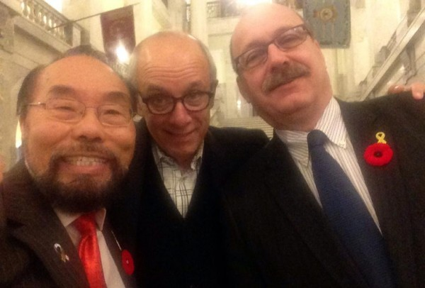 A recent selfie posted on MLA Wayne Cao's Facebook Page. In photo: Wayne Cao, Stephen Mandel and Ric McIver.