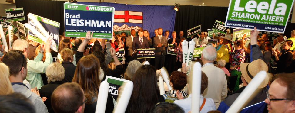 A Wildrose Party rally in Calgary on May 1, 2015 drew hundreds of supporters.
