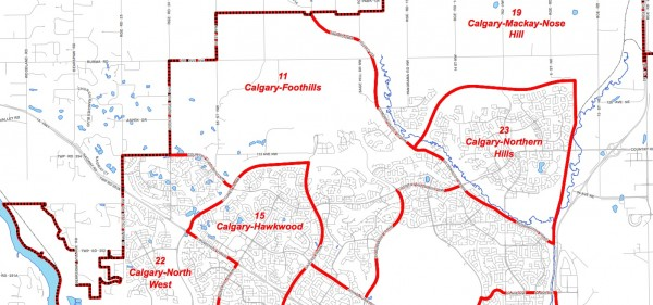 Calgary Foothills Electoral Riding Alberta Map