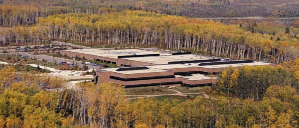 The main campus of Athabasca University, located 152 kilometres north of Edmonton.