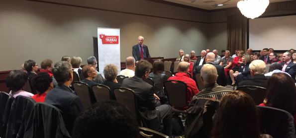 Stephane Dion spoke to Liberal supporters in Edmonton today.