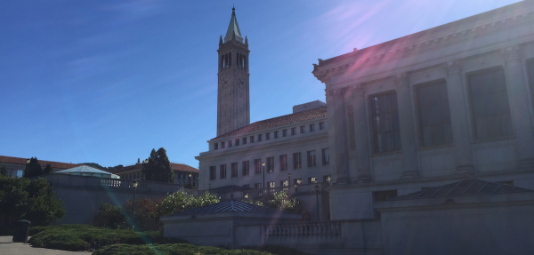 A sunny day on the campus of University of California, Berkeley.