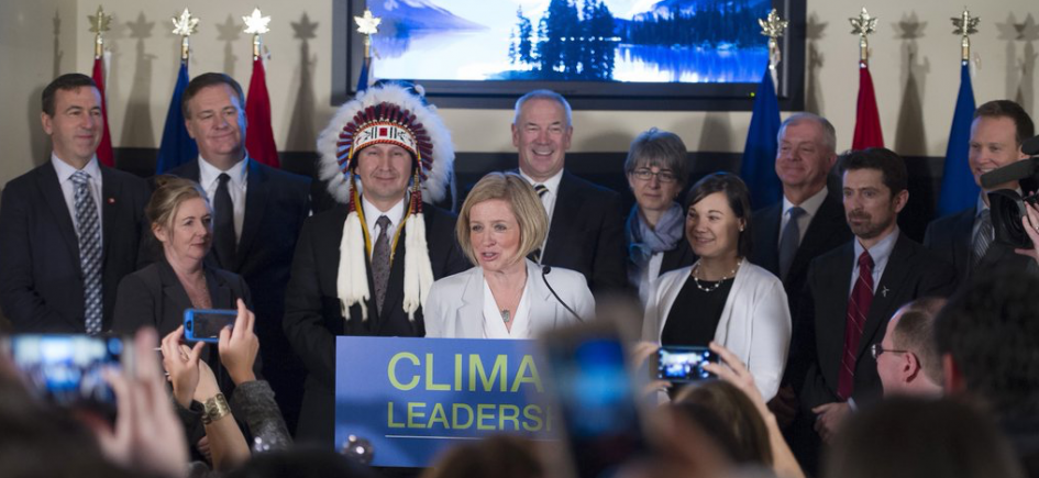 Premier Rachel Notley and Environment Minister Shannon Phillips release Alberta's climate change plan.