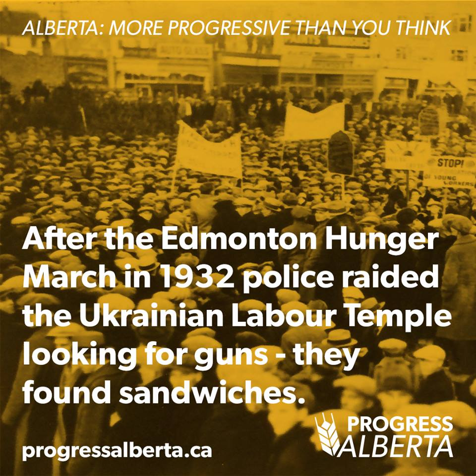 Progress Alberta Edmonton Hunger Ukrainian Strike