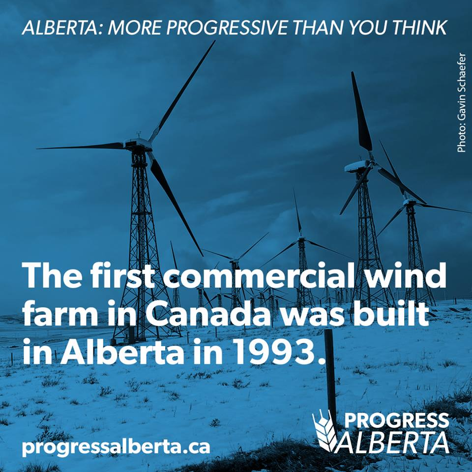 A infographic released by Progress Alberta.