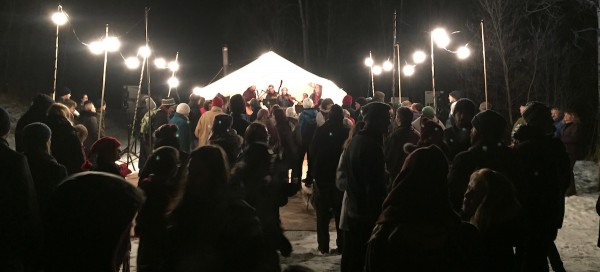 The Cunningham Family Band was part of the entertainment at the Flying Canoe Volant in Mill Creek Ravine on Feb. 5 and 6, 2016.