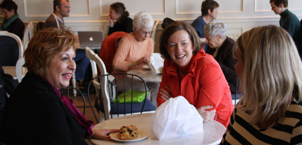PC candidate Heather Klimchuk and leader Alison Redford made a campaign stop at Edmonton's Duchess Bakery during the first week of the 2012 election campaign.