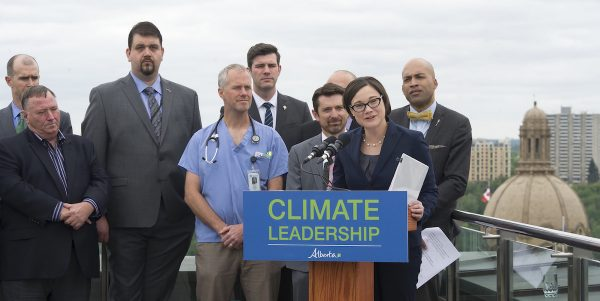 Environment and Parks Minister Shannon Phillips announces Bill 20: The Climate Leadership Implementation Plan.